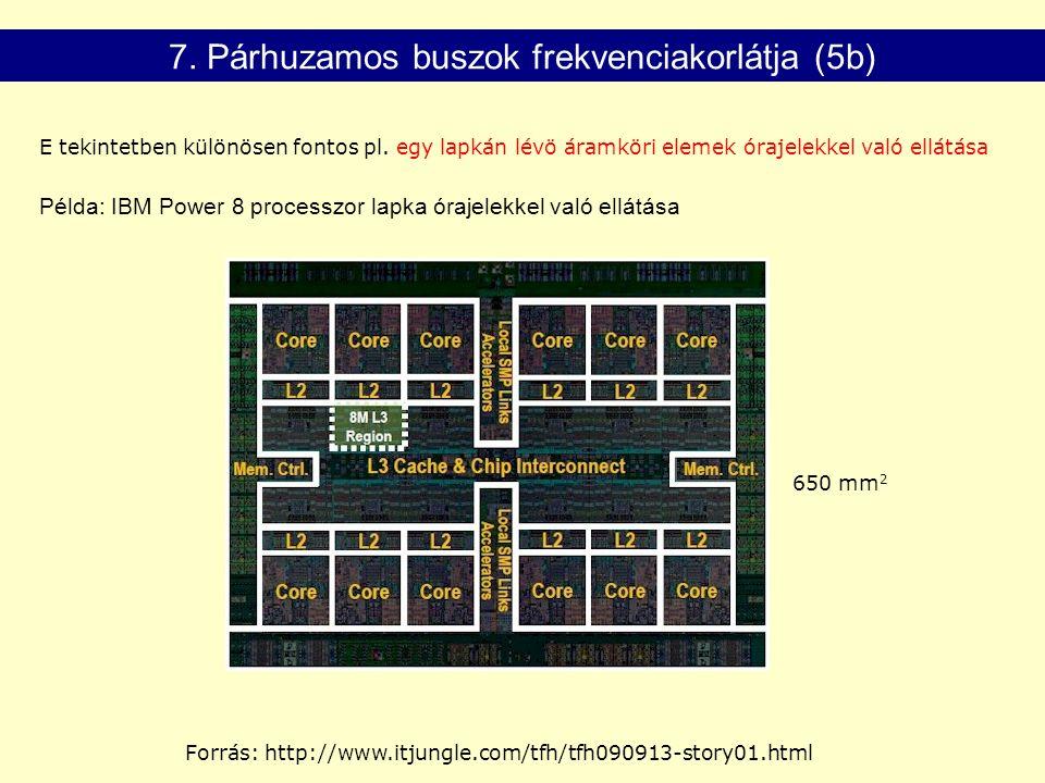 7. Párhuzamos buszok frekvenciakorlátja (5b) E tekintetben különösen fontos pl.