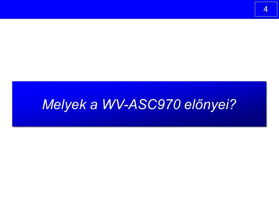 4 Melyek a WV-ASC970 előnyei