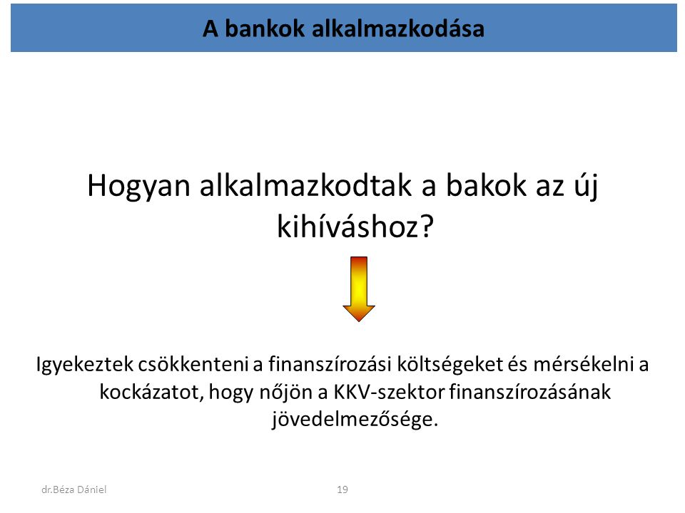 A bankok alkalmazkodása Hogyan alkalmazkodtak a bakok az új kihíváshoz.