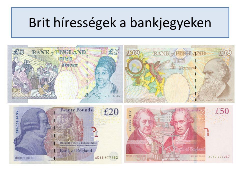 Brit hírességek a bankjegyeken
