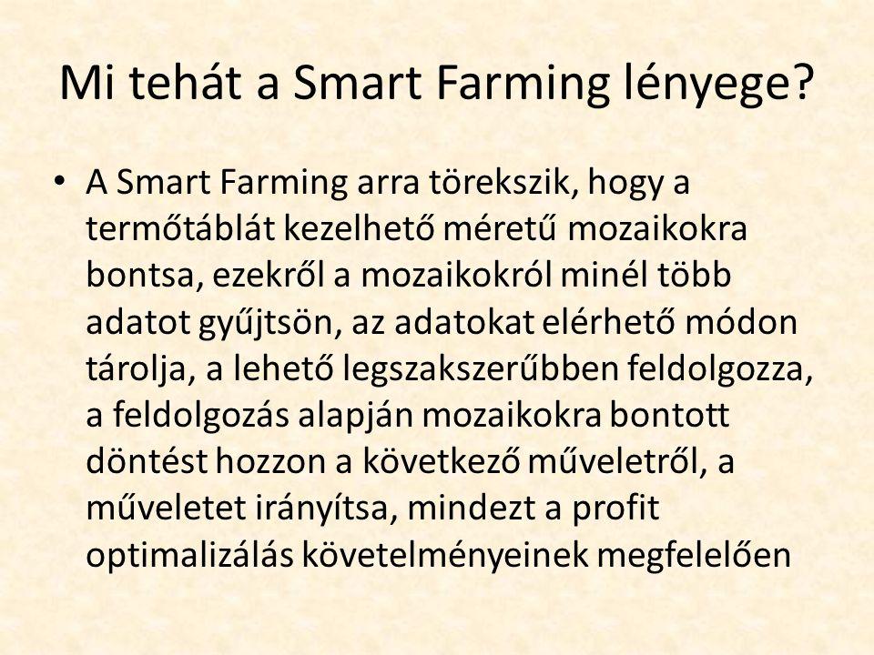 Mi tehát a Smart Farming lényege.