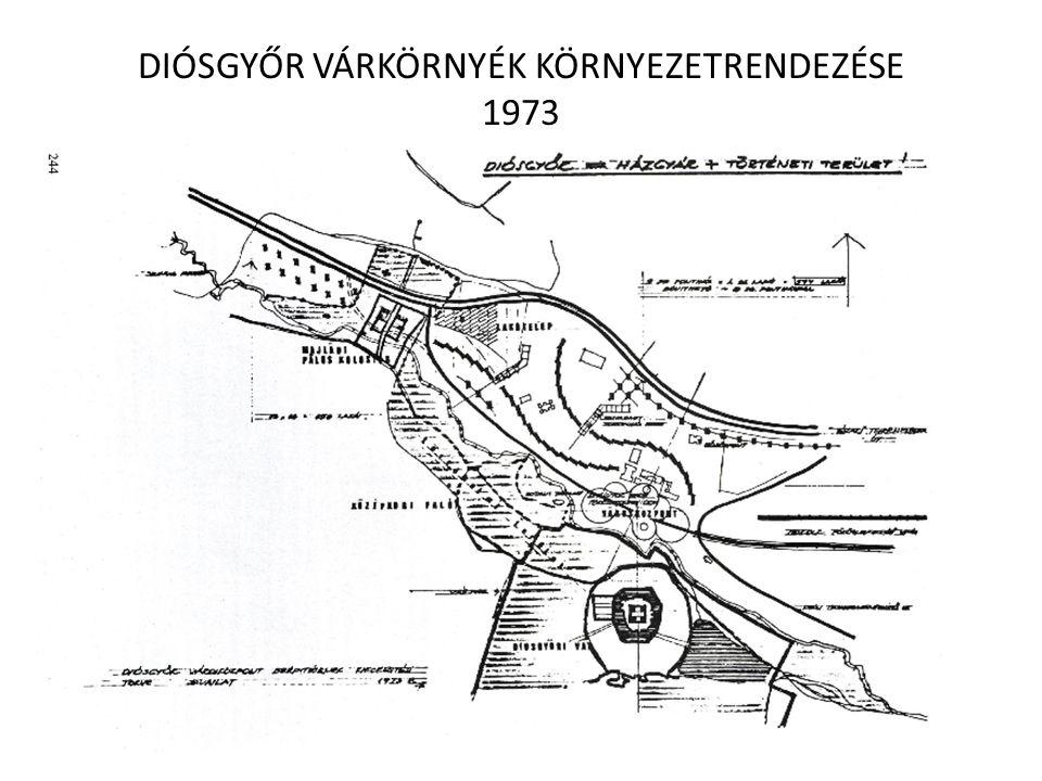 DIÓSGYŐR VÁRKÖRNYÉK KÖRNYEZETRENDEZÉSE 1973