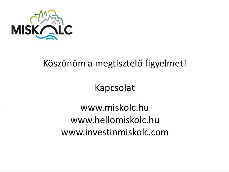 Köszönöm a megtisztelő figyelmet! Kapcsolat www.miskolc.hu www.hellomiskolc.hu www.investinmiskolc.com
