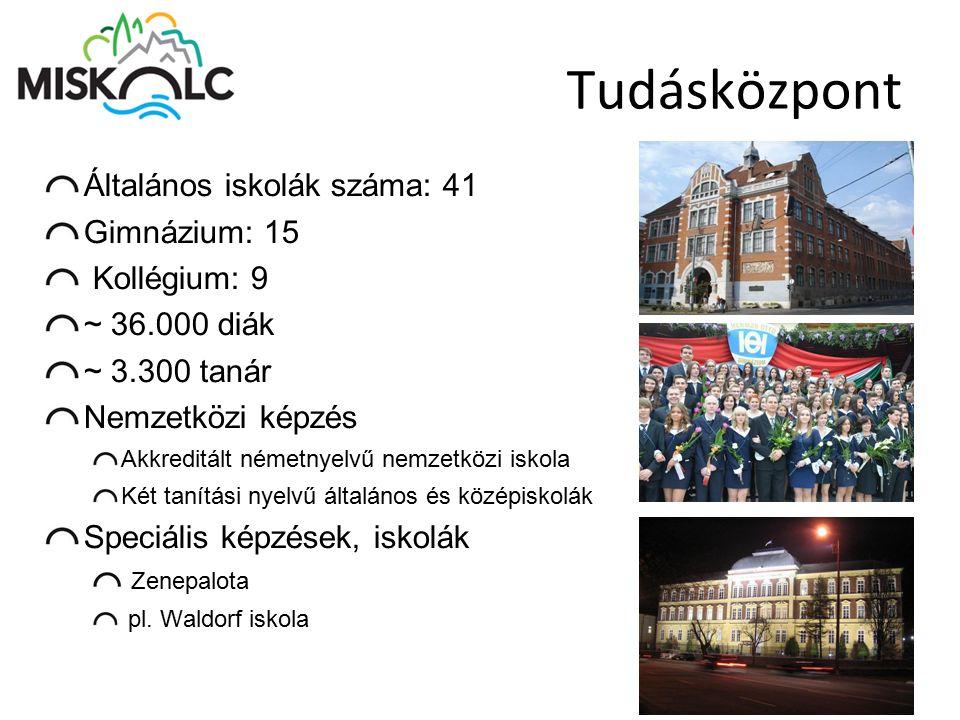 Tudásközpont Általános iskolák száma: 41 Gimnázium: 15 Kollégium: 9 ~ 36.000 diák ~ 3.300 tanár Nemzetközi képzés Akkreditált németnyelvű nemzetközi i