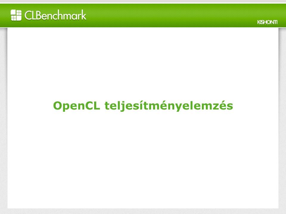 OpenCL teljesítményelemzés