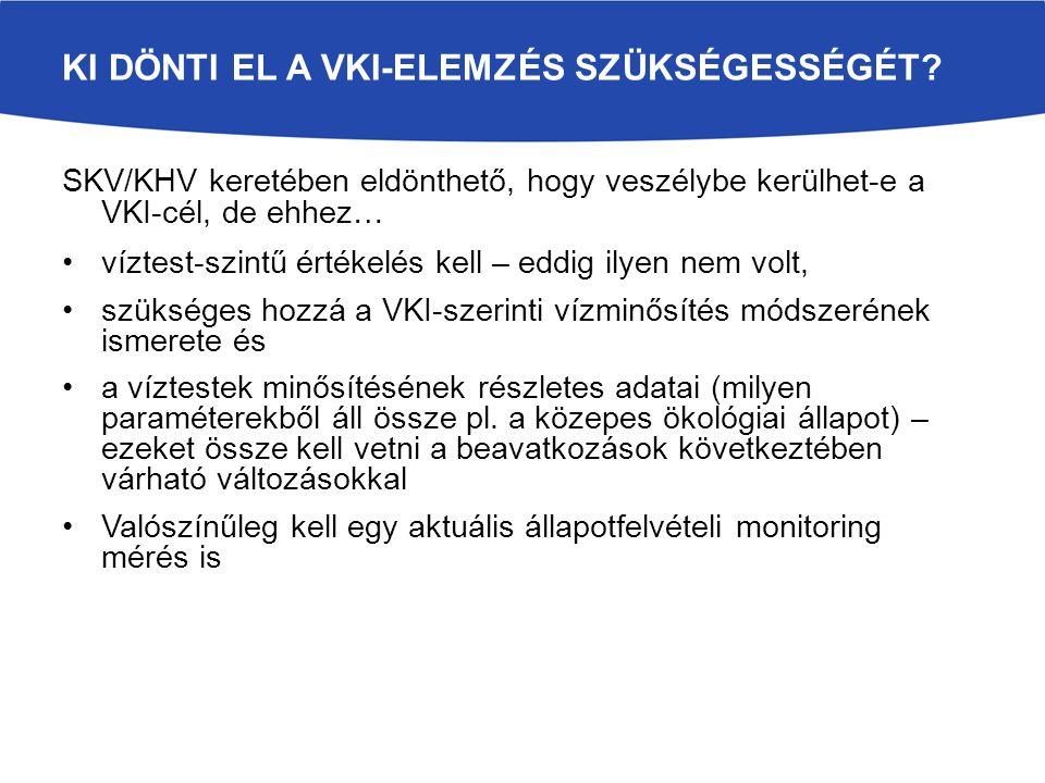 SKV/KHV keretében eldönthető, hogy veszélybe kerülhet-e a VKI-cél, de ehhez… víztest-szintű értékelés kell – eddig ilyen nem volt, szükséges hozzá a V