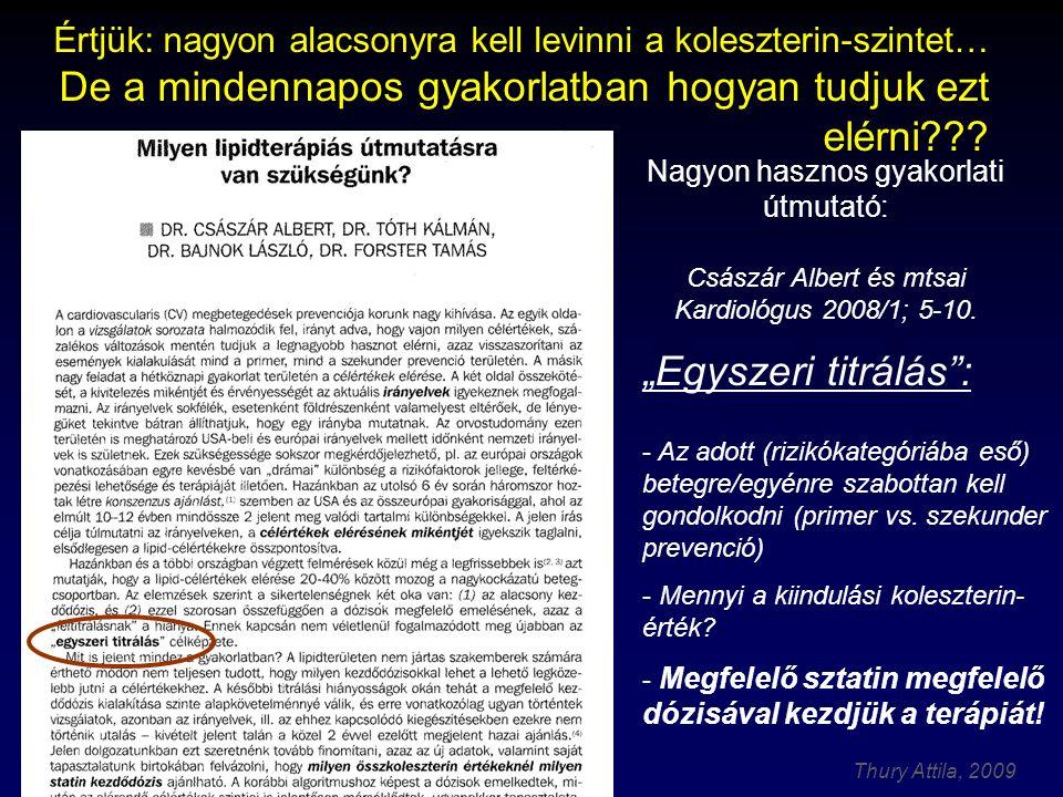 Thury Attila, 2009 Császár Albert és mtsai Kardiológus 2008/1; 5-10.