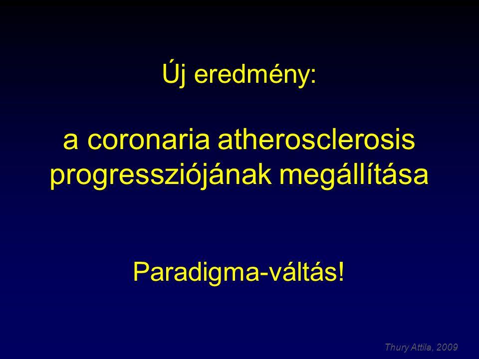 Thury Attila, 2009 Atherosclerosis: Progresszív folyamat A betegség progressziója I.