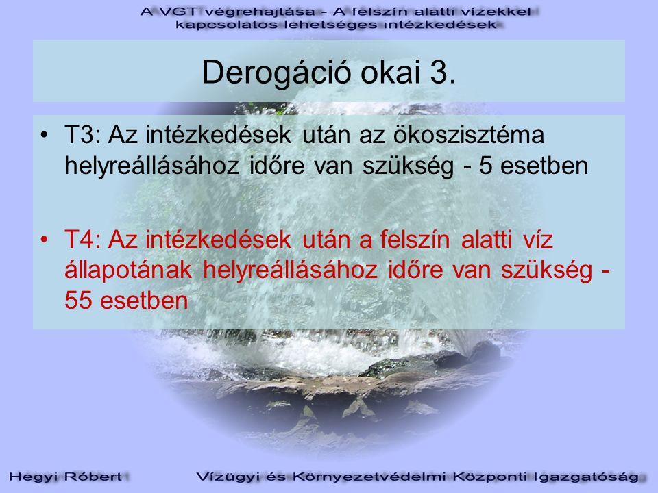 Derogáció okai 3.