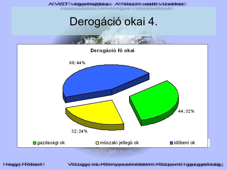 Derogáció okai 4.
