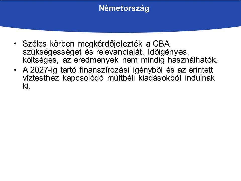 Németország Széles körben megkérdőjelezték a CBA szükségességét és relevanciáját.