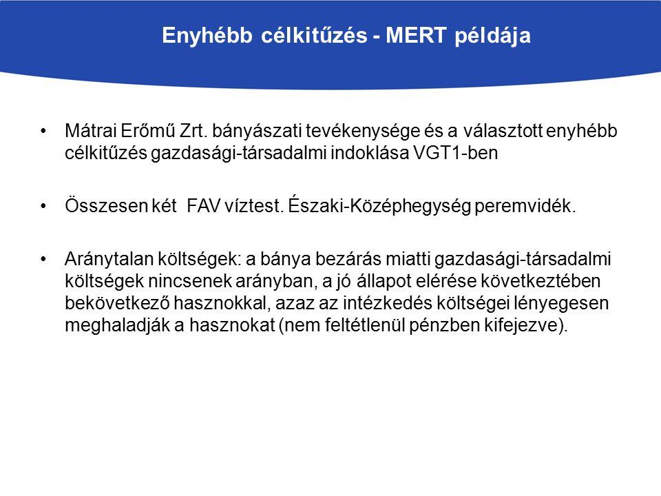 Enyhébb célkitűzés - MERT példája Mátrai Erőmű Zrt.