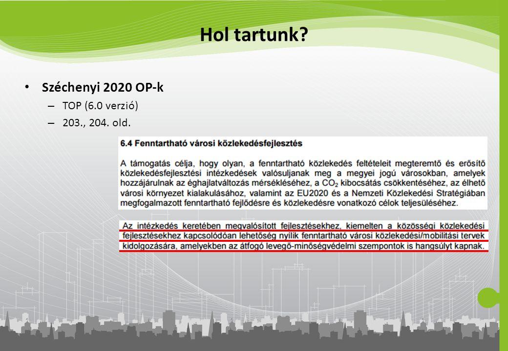 Hol tartunk? Széchenyi 2020 OP-k – TOP (6.0 verzió) – 203., 204. old.