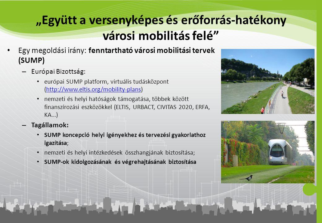 """""""Együtt a versenyképes és erőforrás-hatékony városi mobilitás felé"""" Egy megoldási irány: fenntartható városi mobilitási tervek (SUMP) – Európai Bizott"""