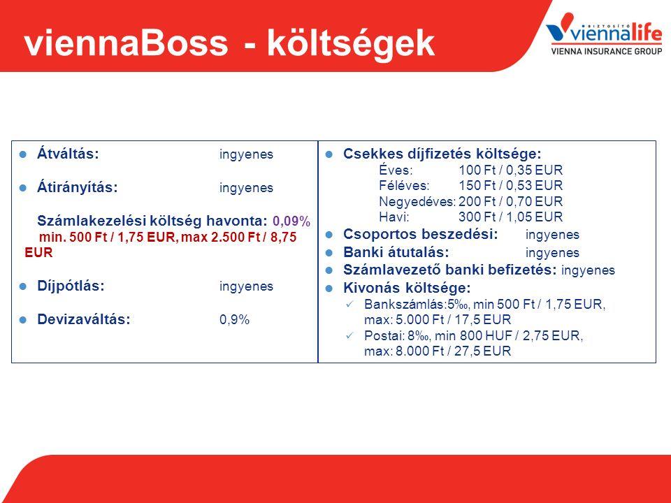 viennaBoss - költségek Vienna BOSS1.év2. év3.