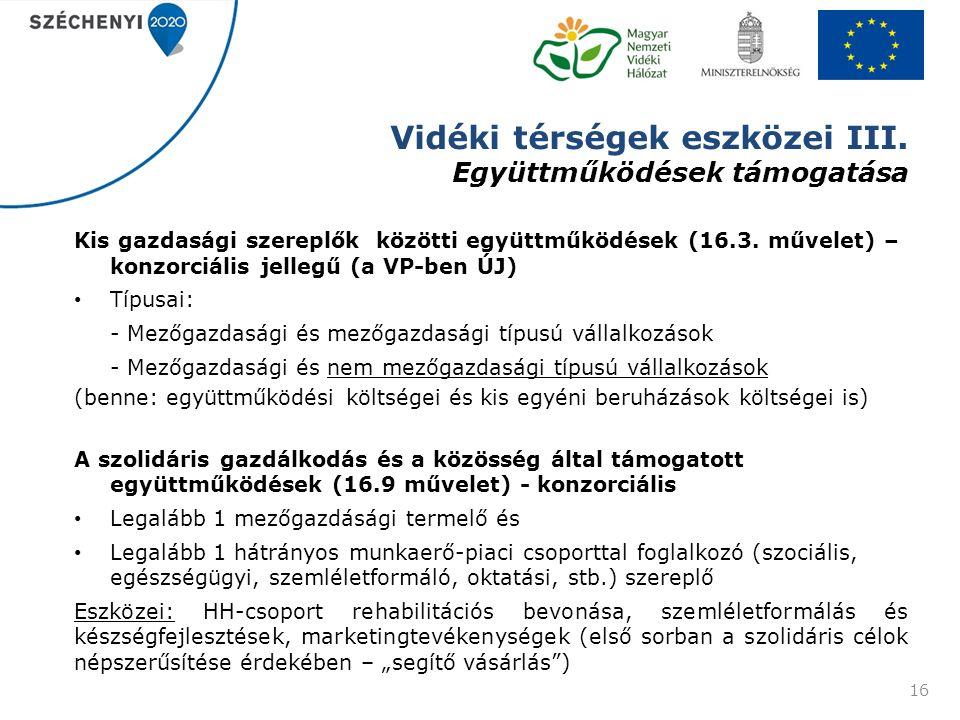 Vidéki térségek eszközei III.