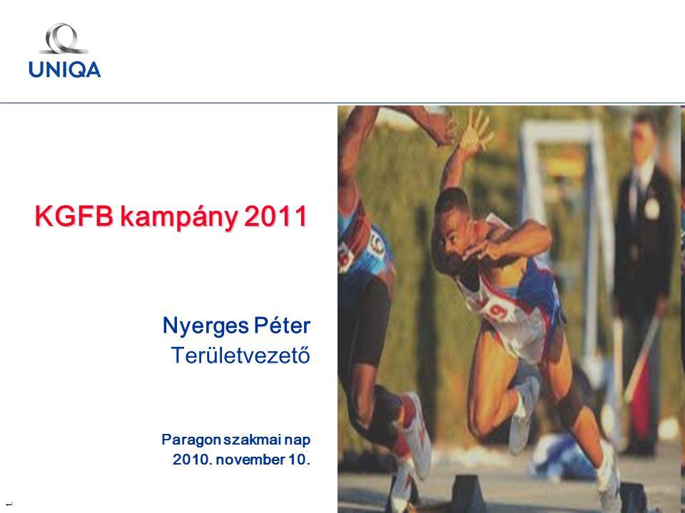 t. 1 KGFB kampány 2011 Nyerges Péter Területvezető Paragon szakmai nap 2010. november 10.