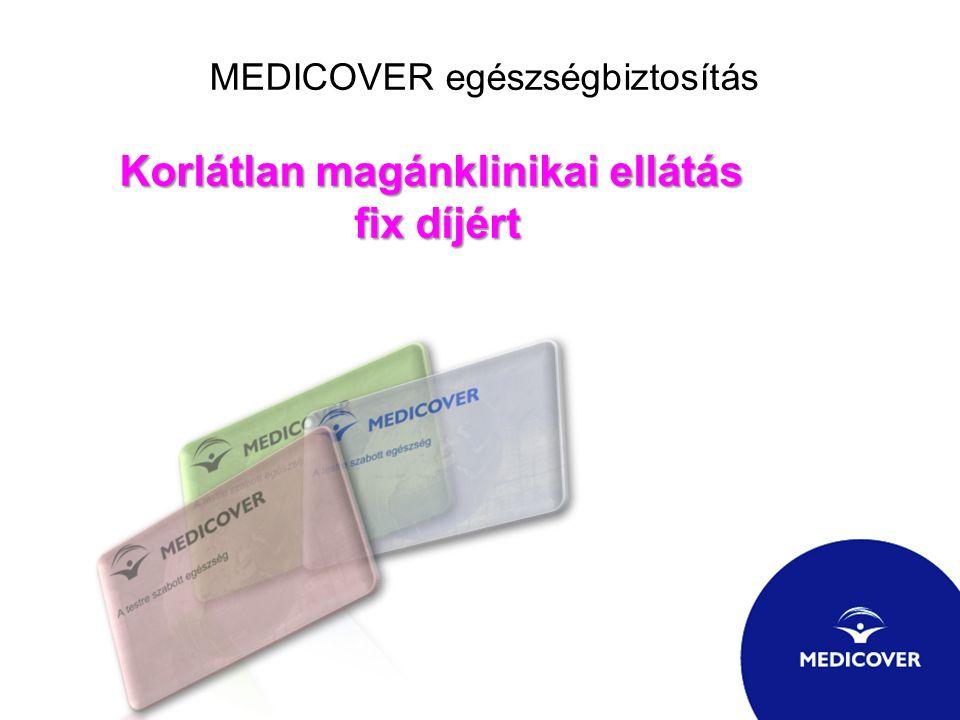 MEDICOVER egészségbiztosítás Korlátlan magánklinikai ellátás fix díjért fix díjért