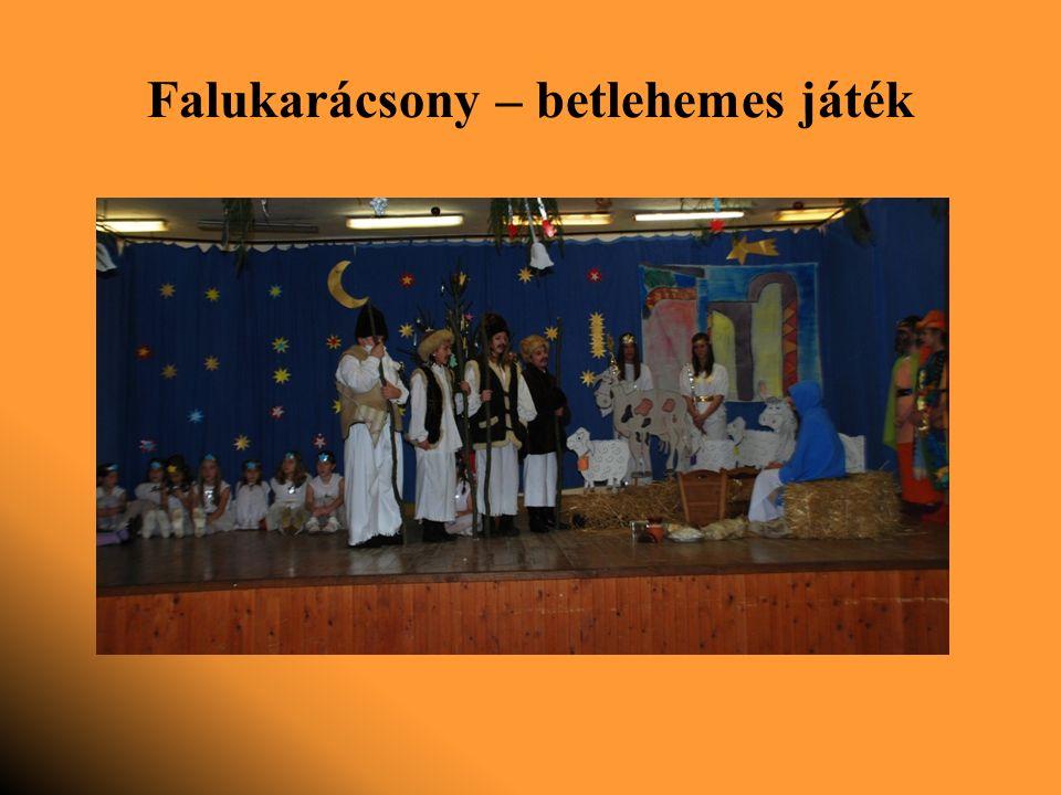 Falukarácsony – betlehemes játék