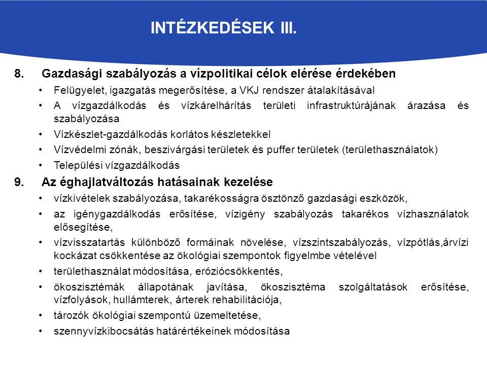 INTÉZKEDÉSEK III.