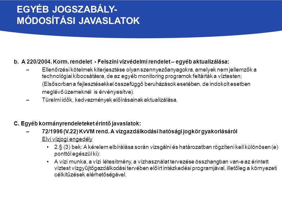 b. A 220/2004. Korm.