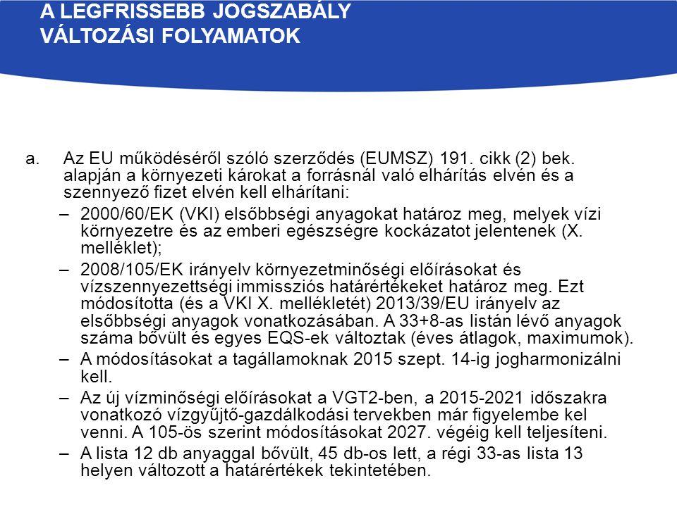 a.Immissziós szabályozás területén: –6/2002.KvVM rend.