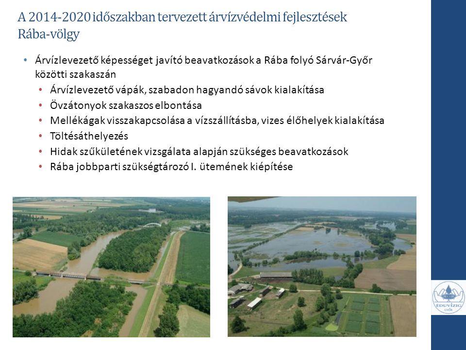 Rába-völgy Árvízlevezető képességet javító beavatkozások a Rába folyó Sárvár-Győr közötti szakaszán Árvízlevezető vápák, szabadon hagyandó sávok kiala