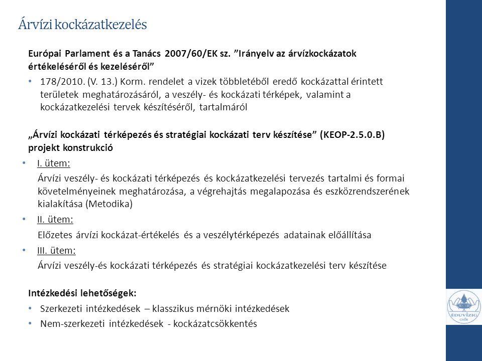 """Európai Parlament és a Tanács 2007/60/EK sz. """"Irányelv az árvízkockázatok értékeléséről és kezeléséről"""" 178/2010. (V. 13.) Korm. rendelet a vizek több"""
