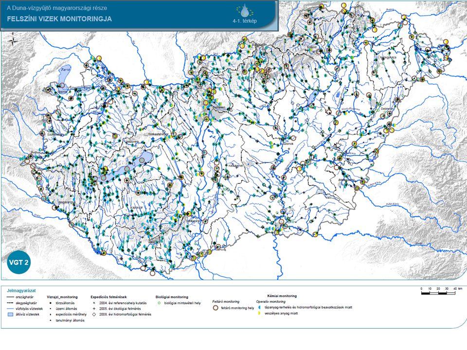 MI A GOND.A monitoring eredményeként készített offline felszíni vizes adatbázisban (2008.