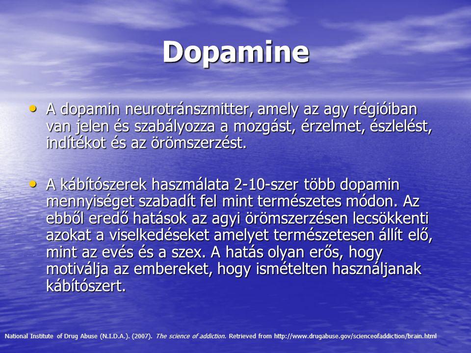 Dopamine A dopamin neurotránszmitter, amely az agy régióiban van jelen és szabályozza a mozgást, érzelmet, észlelést, indítékot és az örömszerzést. A