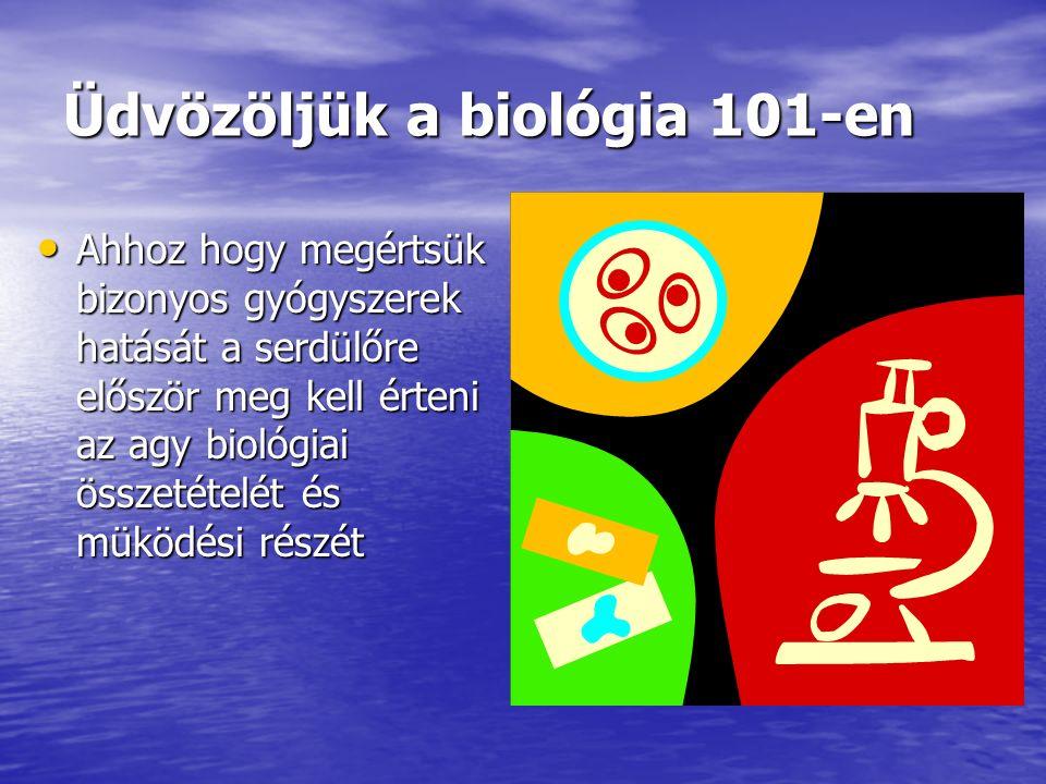Üdvözöljük a biológia 101-en Ahhoz hogy megértsük bizonyos gyógyszerek hatását a serdülőre először meg kell érteni az agy biológiai összetételét és mü