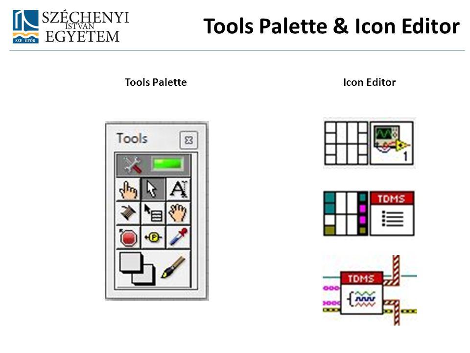 Tools PaletteIcon Editor Tools Palette & Icon Editor