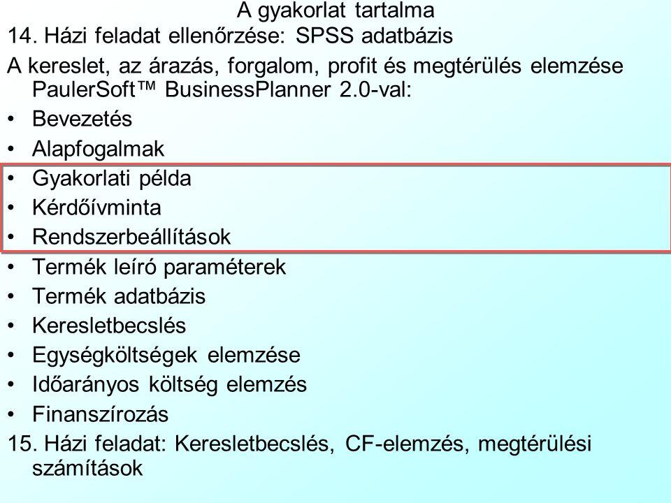 Dömpingár(t) Profitmax.ár(t) PaulerSoft™ BusinessPlanner 2.0: Alapfogalmak 6 A termékéletciklusban nemcsak a kereslet változik időben, hanem a keresle