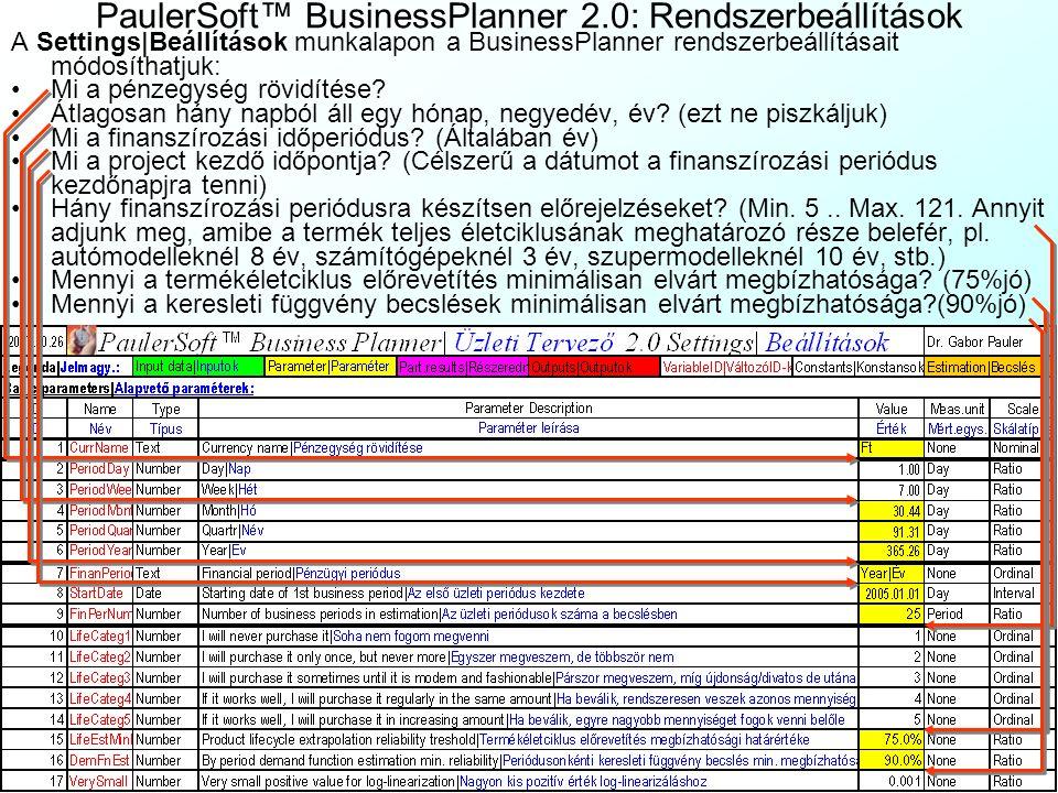 PaulerSoft™ BusinessPlanner 2.0: Kérdőívminta 2 Lehetnek ugyanis olyan termékek, amelyek egyes fogyasztói csoportok számára impulzus, még mások számár