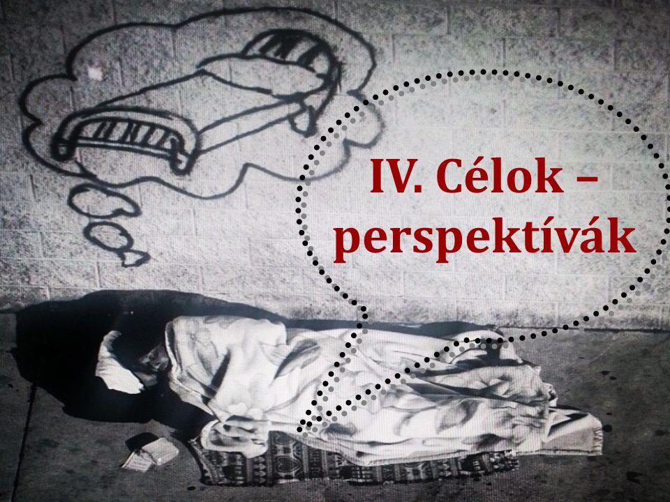 IV. Célok – perspektívák
