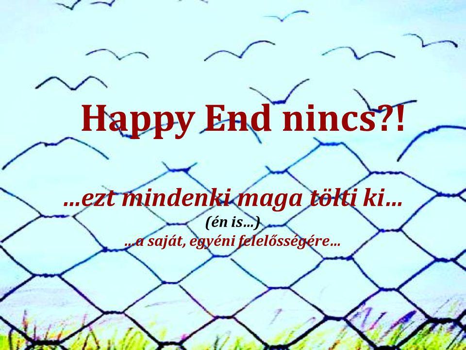Happy End nincs ! …ezt mindenki maga tölti ki… (én is…) …a saját, egyéni felelősségére…