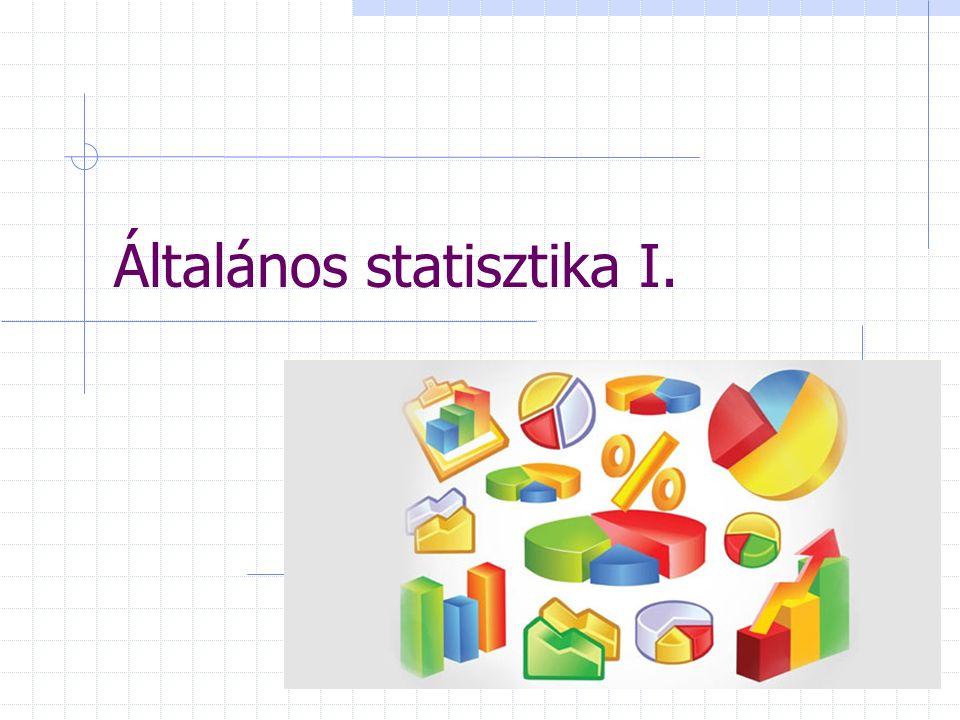 Általános statisztika I.