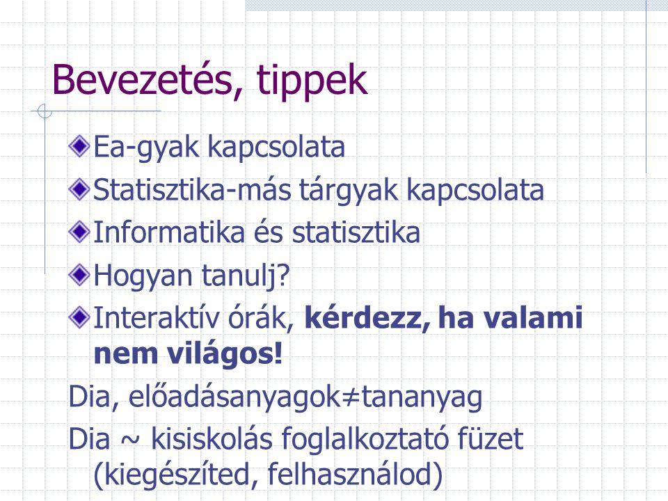 Statisztikai táblák készítésének formai követelményei Cím Oszlopok, sorok feliratai, mértékegységek Összesen Forrás Megjegyzések Kérdés Kategóriák sorrendje?