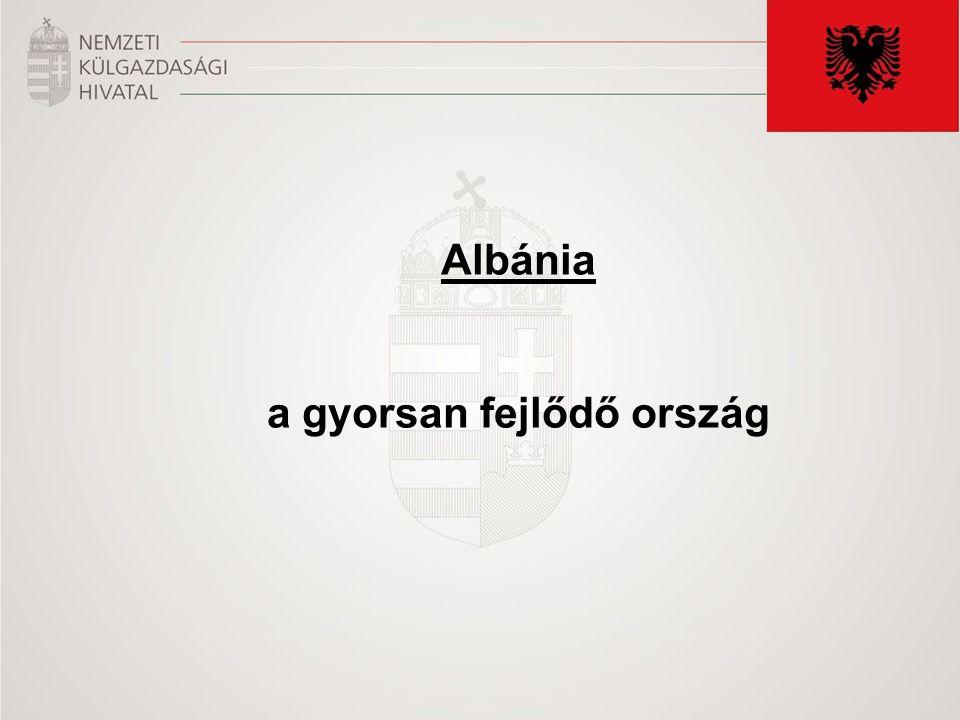 Albánia a gyorsan fejlődő ország