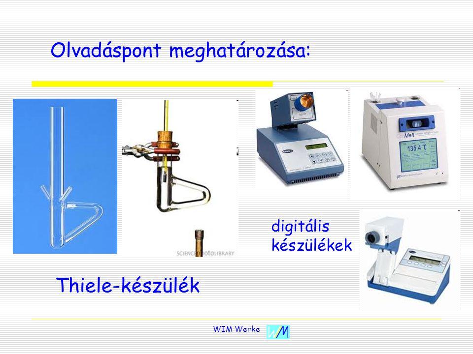WIM Werke Olvadáspont meghatározása: Thiele-készülék digitális készülékek