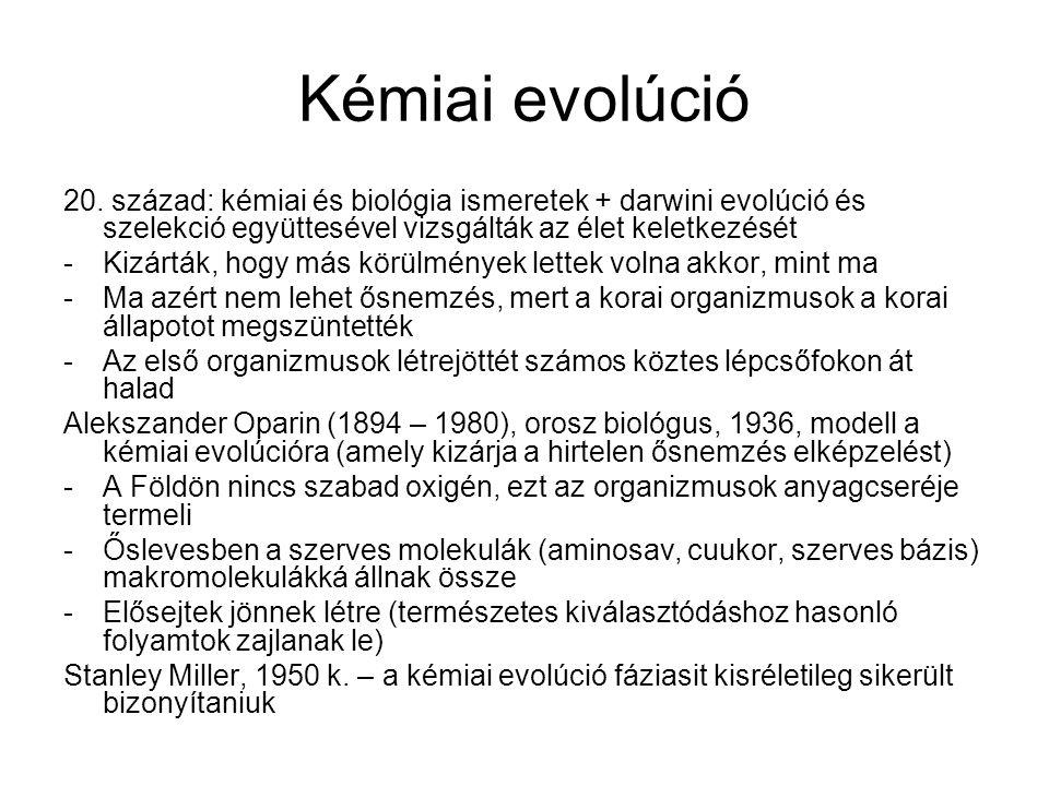 Kémiai evolúció 20.