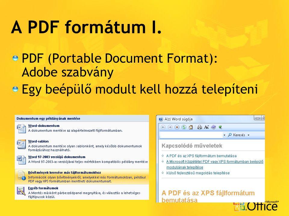 A PDF formátum I.