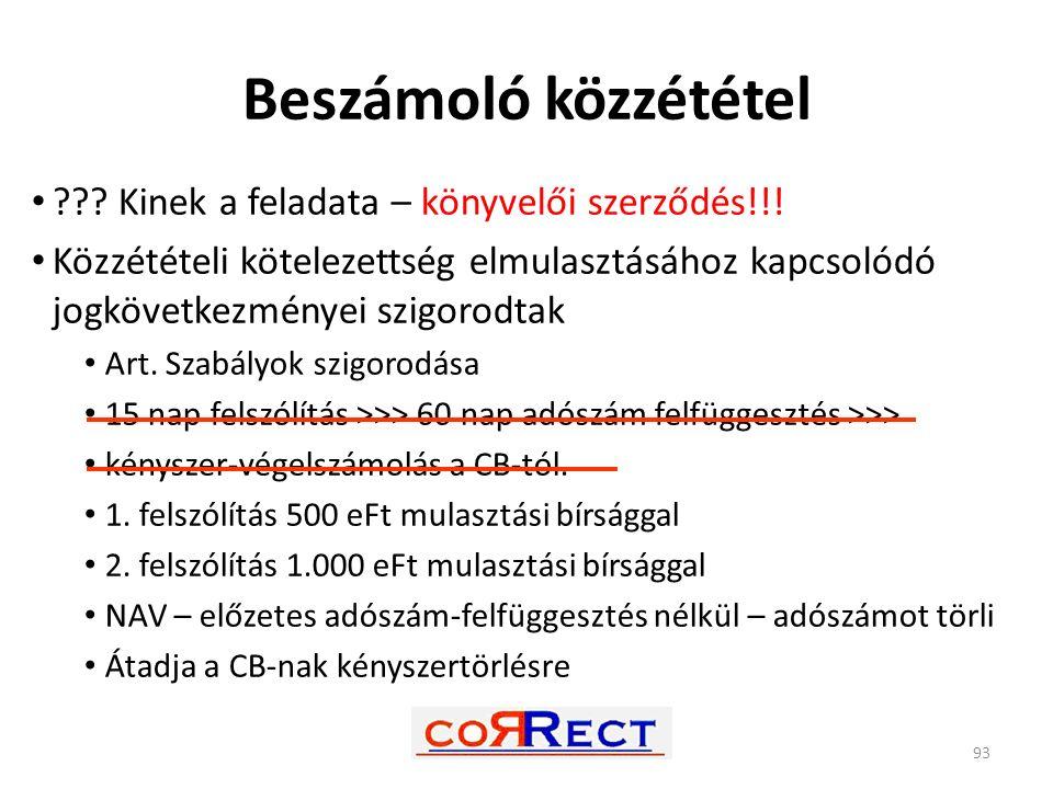 Beszámoló közzététel ??? Kinek a feladata – könyvelői szerződés!!! Közzétételi kötelezettség elmulasztásához kapcsolódó jogkövetkezményei szigorodtak