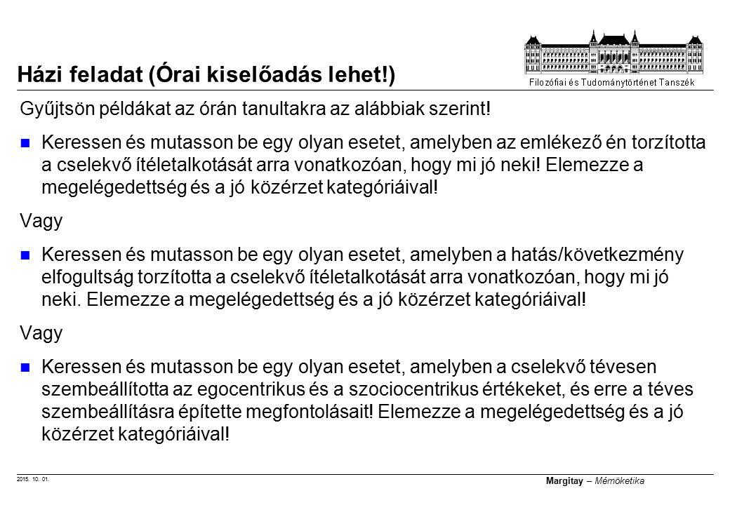 2015.10. 01. Margitay – Mérnöketika Gyűjtsön példákat az órán tanultakra az alábbiak szerint.