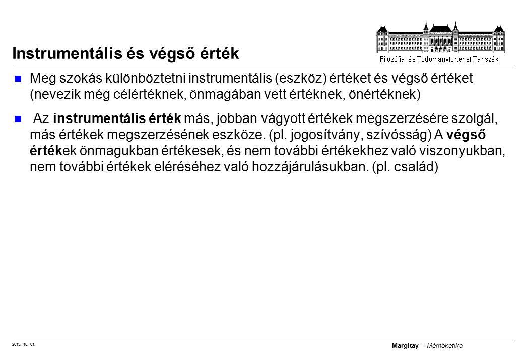 """2015. 10. 01. Margitay – Mérnöketika """"LEGFŐBB ÉRTÉK A BOLDOGSÁG"""