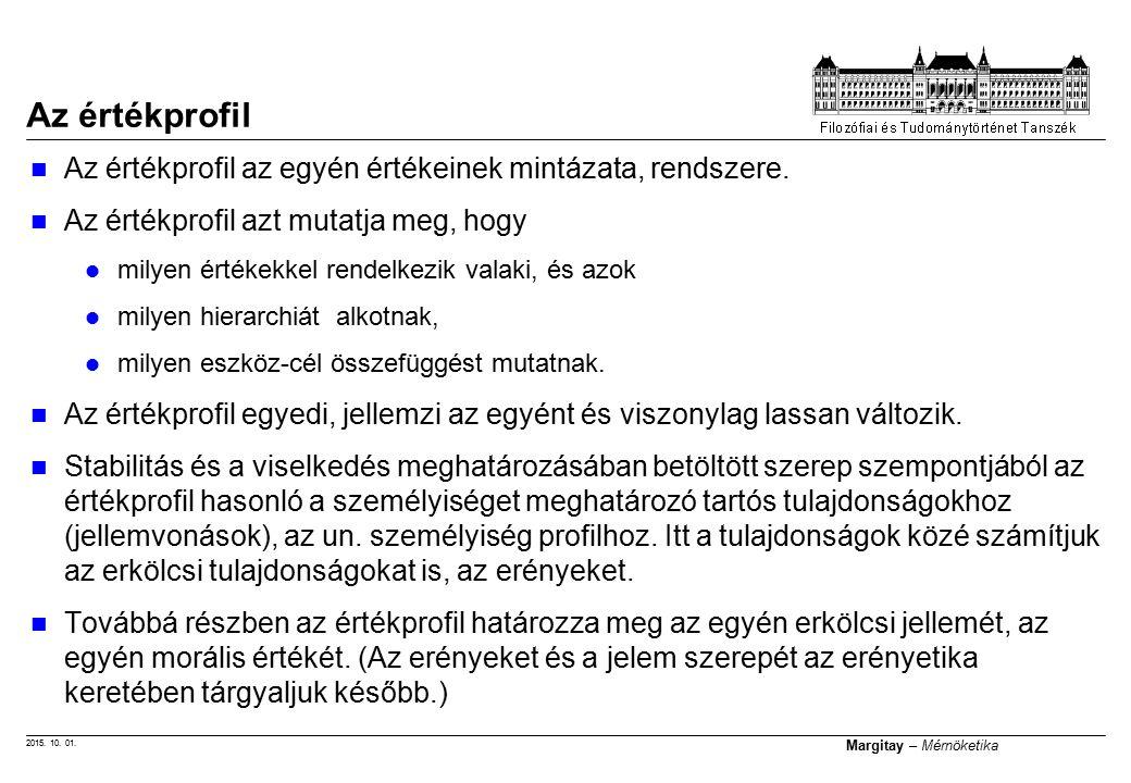 2015.10. 01. Margitay – Mérnöketika Előírhatók-e az értékek.