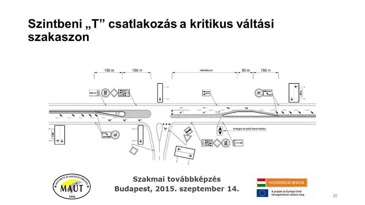 """Szintbeni """"T"""" csatlakozás a kritikus váltási szakaszon 20 Szakmai továbbképzés Budapest, 2015. szeptember 14."""