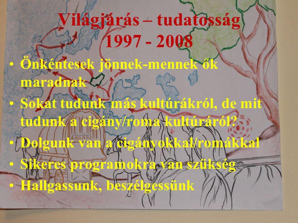 Világjárás – tudatosság 1997 - 2008 Önkéntesek jönnek-mennek ők maradnak Sokat tudunk más kultúrákról, de mit tudunk a cigány/roma kultúráról.