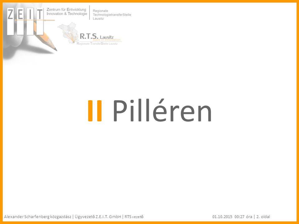 II Pilléren Alexander Scharfenberg közgazdász | Ügyvezet ő Z.E.I.T.