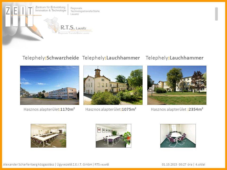 Telephely:Schwarzheide Telephely:Lauchhammer Telephely:Lauchhammer I Alexander Scharfenberg közgazdász | Ügyvezet ő Z.E.I.T.